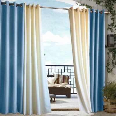 Outdoor Décor Gazebo Outdoor Solid Grommet Top Curtain Single