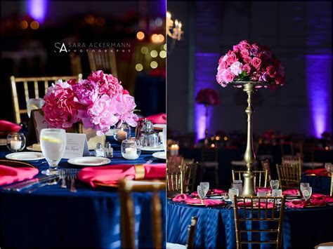 Navy, Pink & Gold Wedding Reception   The Crane Bay