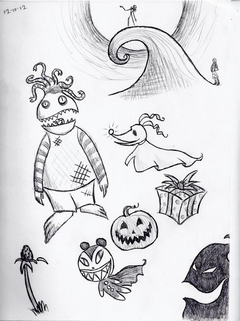 All Nightmare Before Christmas Characters Drawings Eydt
