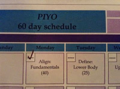 piyo  day workout exercise calendar  food tracker