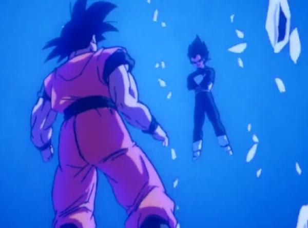悟空ベジータおめえ本当は超サイヤ人ブルーになれなくて青い色水で