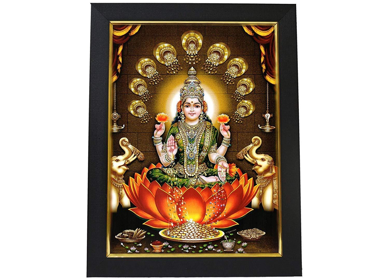 English: Mysore painting depicting Hindu Godde...