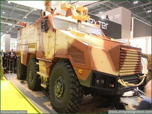Reino Unido, Londres. En DSEI 2013, fabricante francés Nexter estrena su nuevo vehículo blindado TITO (Tactical Transport & Infantería Utility System) para el Ejército francés tierna VBMR (Véhicule blinde múltiples roles).