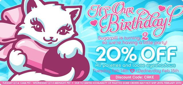 sugarpill birthday sale 2012