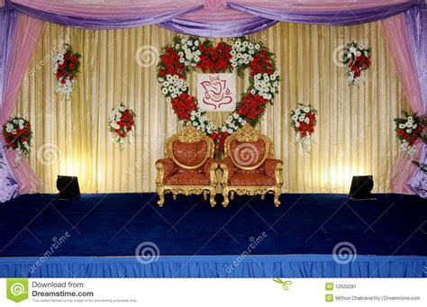 Simple wedding stage decoration with flowers new wedding