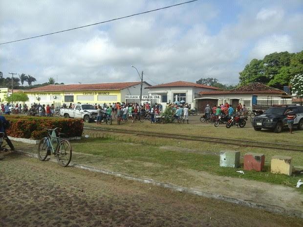 Pela manhã, movimento era grande na delegacia de Pirapemas