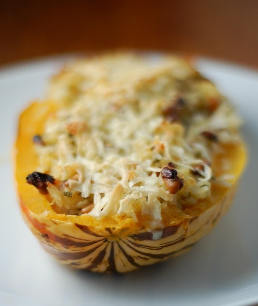 Sage and Nut-Stuffed Delicata Squash | The Garden of Eating