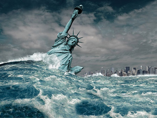 Image result for Statue of Liberty sinking