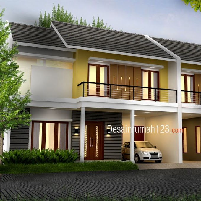 Desain Rumah Tropis Minimalis 2 Lantai | Ide Rumah Minimalis