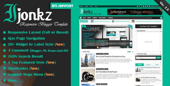 Ijonkz v2.0 - Responsive Magazine/News Blogger Template