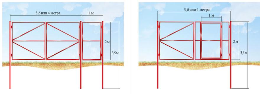Как правильно установить ворота и калитку видео