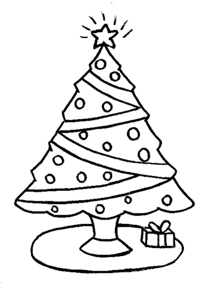 Easy Christmas Coloring Pages For Kids at GetColorings.com ...
