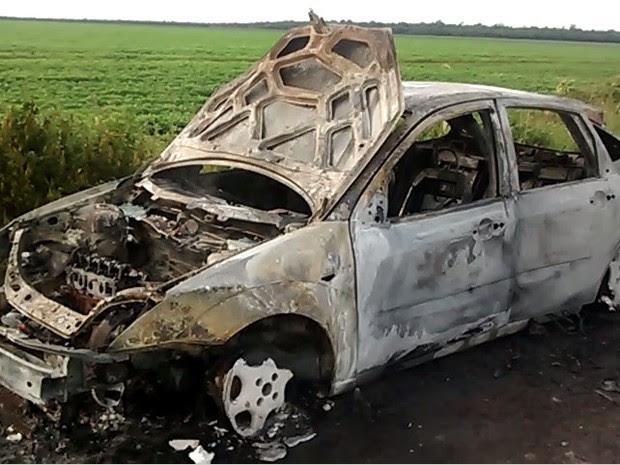 Motorista que dirigia veículo não ficou ferido, segundo Bombeiros (Foto: Adelino Lopes/ Arquivo Pessoal)