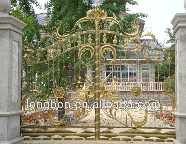 Luxury Security Wrought Iron Grill Gate Design For Villa View