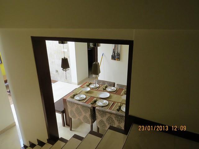 Staircase & Dining - 3 BHK Bungalows at Green City Handewadi Road Hadapsar Pune 411028