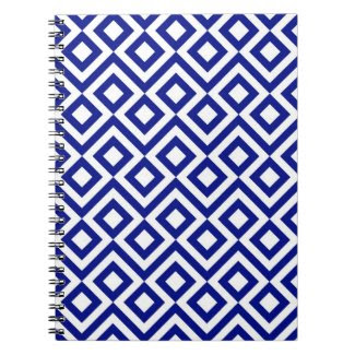 Blue and White Meander Note Books