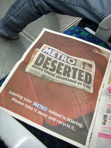 Recycle your Metro ad in Metro