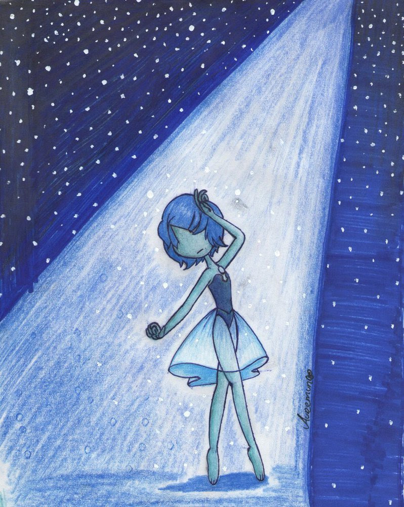 The Beauty of a Blue Pearl! Hehe, It's my first time drawing SU Fanart, but I really liked this Pearl!