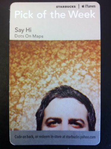 Starbucks iTunes Pick of the Week - Say Hi - Dots On Maps