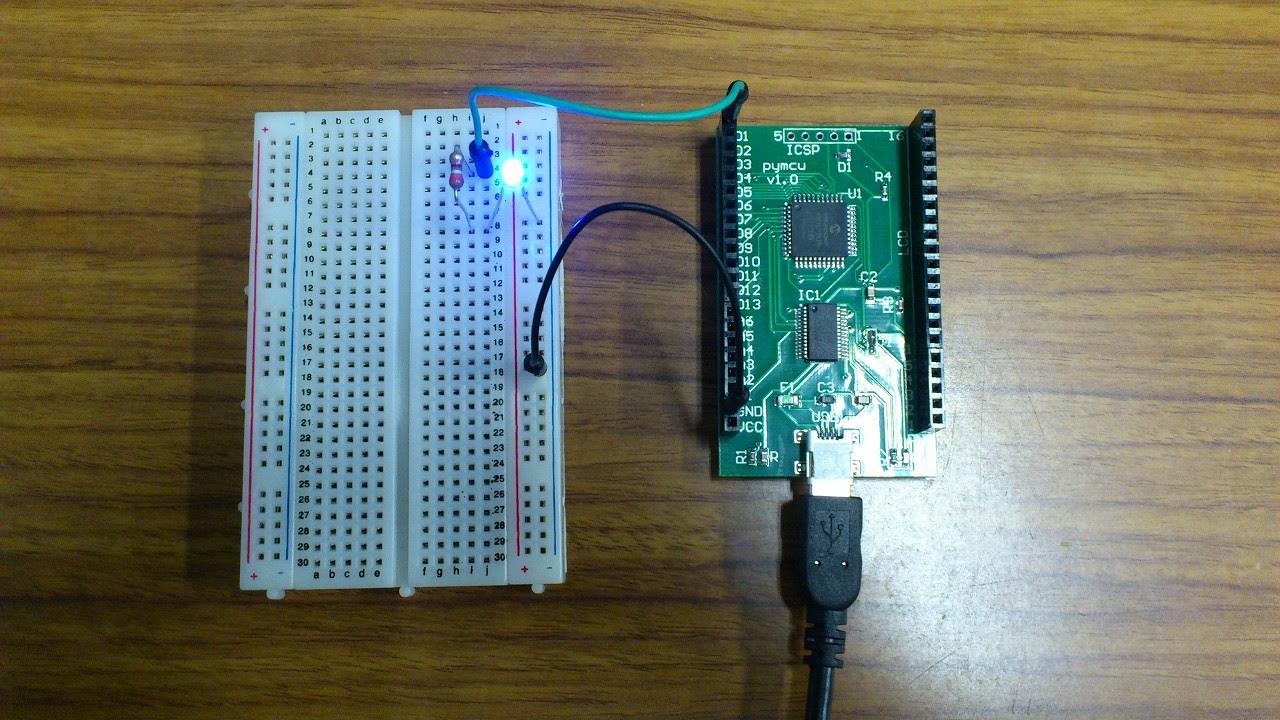pyMCU:LED点滅