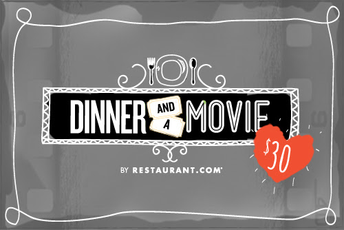 This Valentine's Day, escape the chill and cozy up for a night out with your loved ones! Enjoy a romantic dinner and a blockbuster hit with Specials by Restaurant.com Dinner & a Movie deal. This offer includes two movie tickets and a $100 Restaurant.com eGift card for only $30—an unbeatable 76% savings