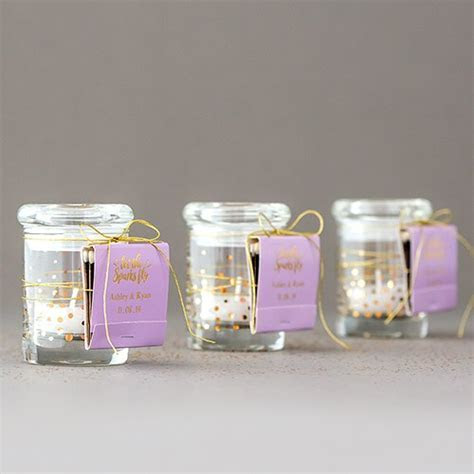 Small Glass Favor Jars with Lids   Weddingstar