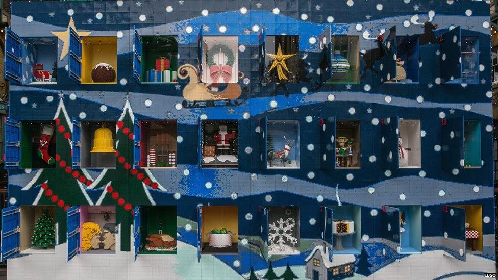 for english fans giant lego advent calendar built in. Black Bedroom Furniture Sets. Home Design Ideas