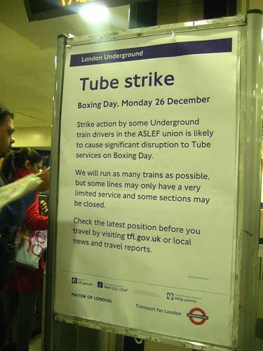 Boxing Day Tube Strike - December 2011