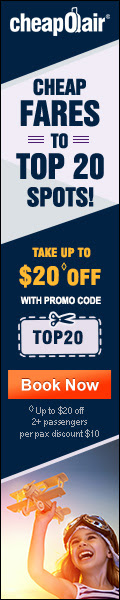 Cheap Fares To Top 20 Spots! Take up to $20? off with Promo Code TOP20. Book Now!