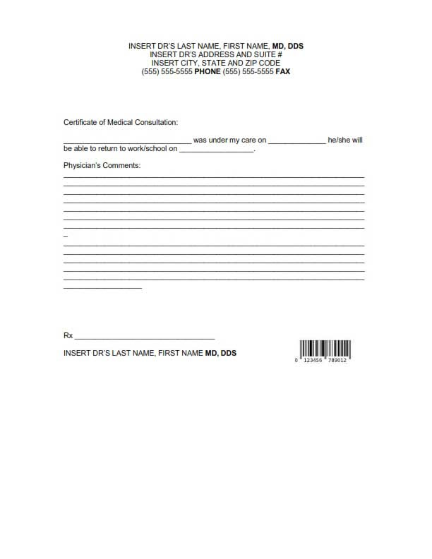 Doctors Note Template: Free Download, Create, Edit, Fill & Print