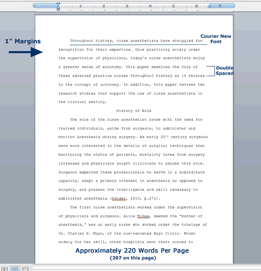 Sample thesis paper outline