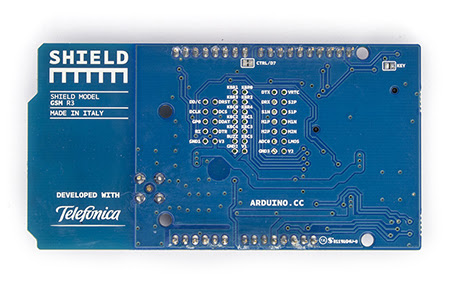 Arduino GSM Shield Rear