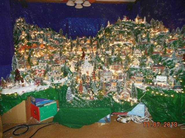 Influenza A virus subtype H5N1 Christmas Village That Comes to Your Living Room