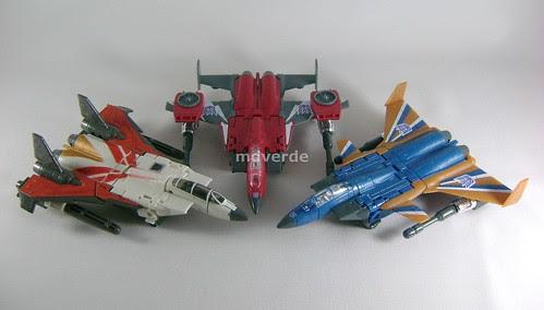Transformers Thrust Classic Henkei vs Dirge vs Ramjet - modo alterno