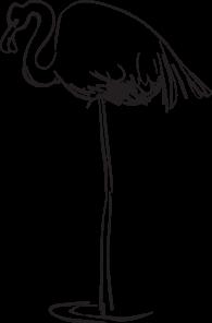 Flamingo Outline Art Clip Art