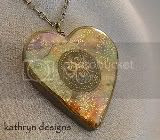 Swirl Charm Heart Necklace
