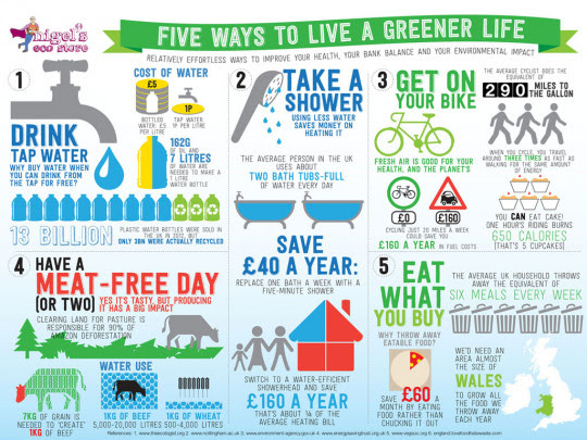 Five Ways to Live a Greener Life