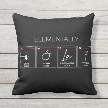 I Slay Elementally Funny Pillow