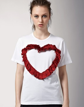 Image 1 of J.W. Anderson Hand Embroidered Heart T-Shirt