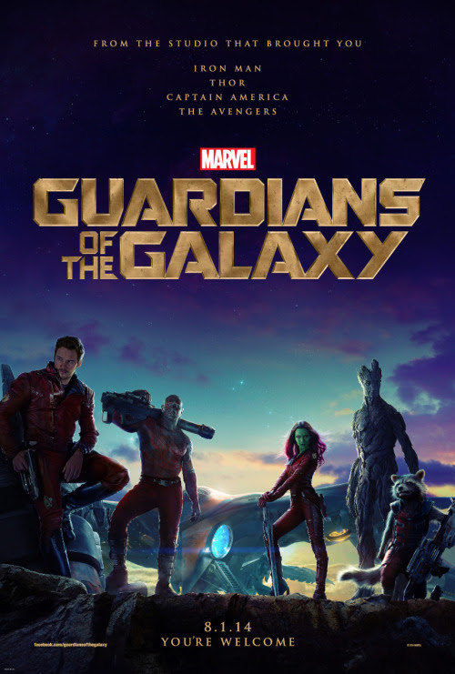 GUARDIANS OF THE GALAXY poster [click to see larger version]