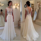 2015 Chiffon Ivory/White wedding bridal gown dress custom