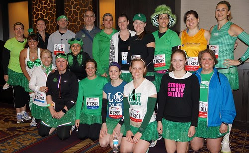 F'N Runners before the Shamrock Shuffle