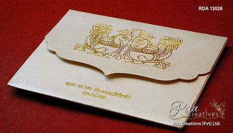 Rda Creations   Sri Lanka Wedding Invitation Cards for