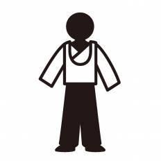 民族衣装シルエット イラストの無料ダウンロードサイトシルエットac