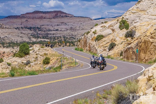 "The infamous ""Hogback,"" a.k.a. State Route 12 between Escalante and Torrey, Utah. The narrowest and most thrilling, heart pumping, nervous laughing, beautiful stretch of pavement in Utah."