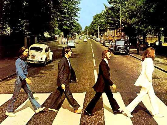 "Capa do disco ""Abbey Road"", dos Beatles"