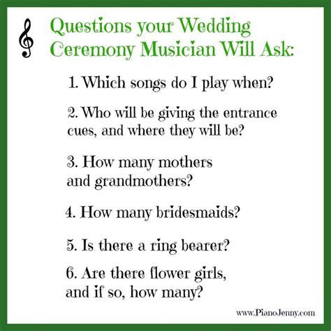 Your wedding musicians DON'T need to attend the rehearsal