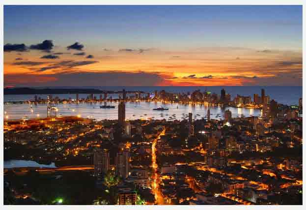 Cartagena, a historical city of Colombia.