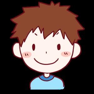 男の子笑顔のイラスト かわいいフリー素材が無料のイラストレイン