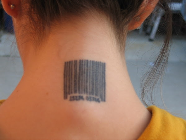 Barcode Tattoo Meaning Neck For Girl Tattoomagz